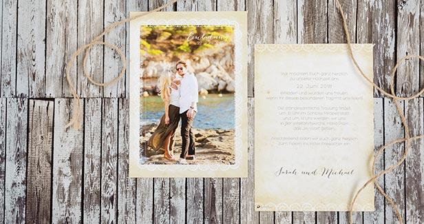 Hochzeitseinladungen - Dankeskarte.com