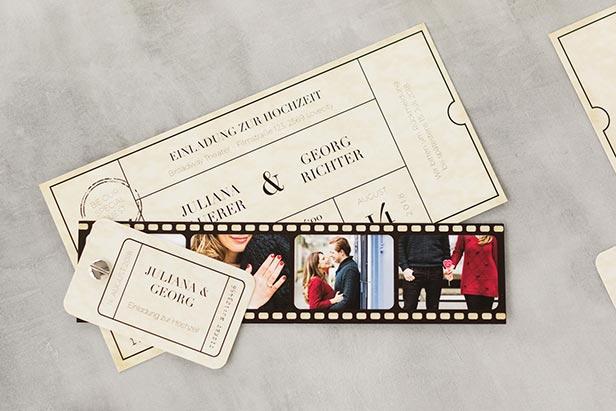 Hochzeitseinladung Theaterticket - Dankeskarte.com