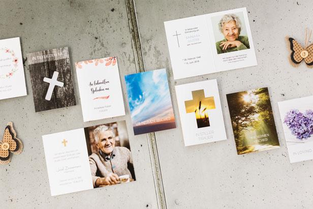 Beispiele für Sterbebilder - Dankeskarte.com