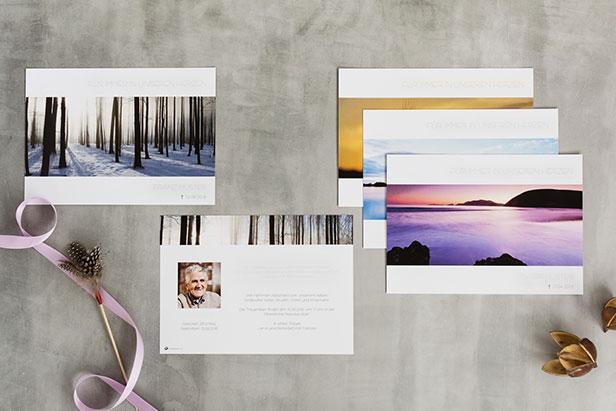 Trauerkarten Kollage - Dankeskarte.com