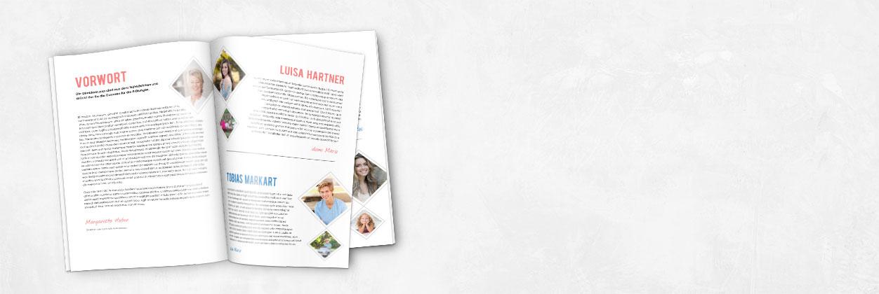 Einzigartige Designs für Abizeitungen