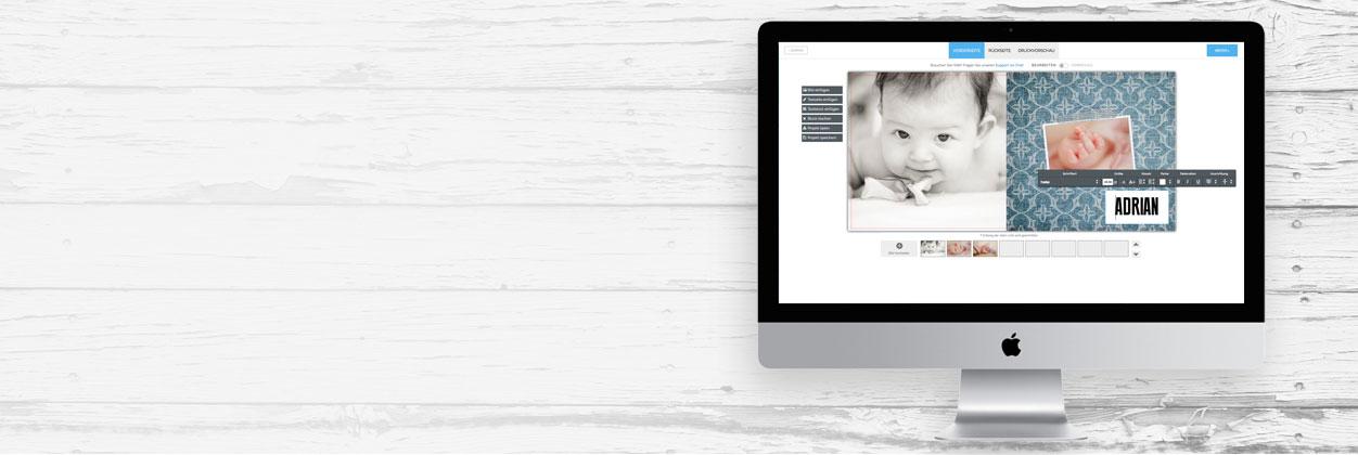 Geburtskarten einfach selbst online gestalten und drucken lassen