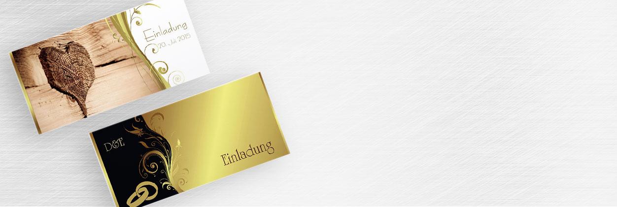 Einzigartige Designs für Einladungen zur goldenen Hochzeit online gestalten und drucken lassen
