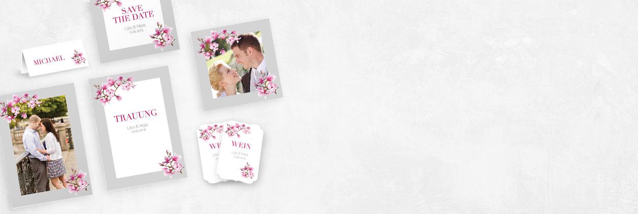 Einzigartige künstlerische Designs für Hochzeitseinladungen online gestalten und drucken lassen