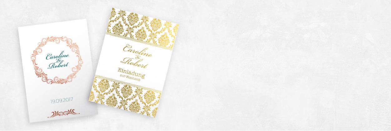 In nur 3 Schritten zur individuellen glanzfolierten Einladungskarte