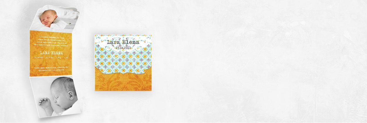 Einzigartige Designs für Geburtskarten