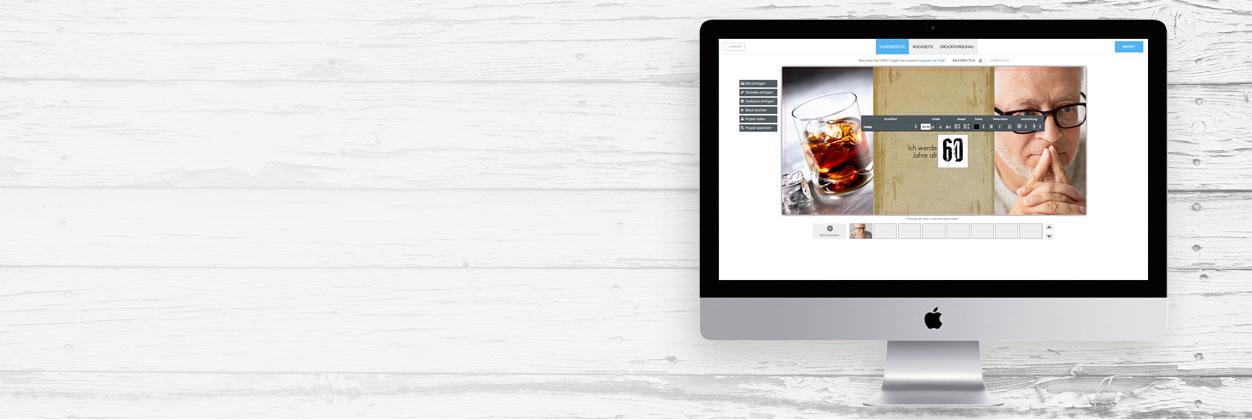 Einladungen zum 60. Geburtstag einfach selbst online gestalten und drucken lassen
