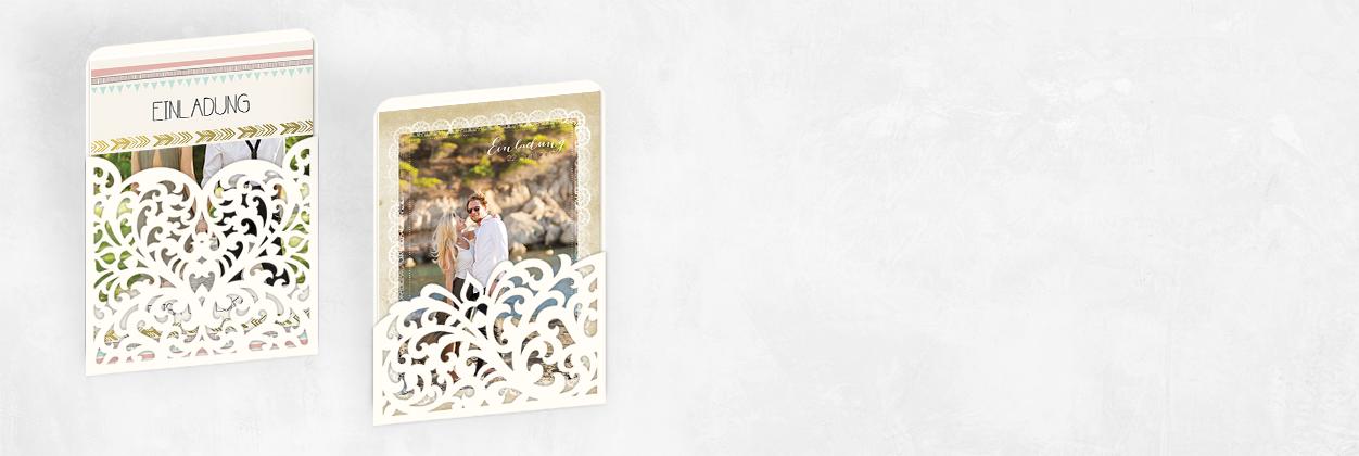 Einzigartige Designs für edle Hochzeitseinladungen online gestalten und drucken lassen