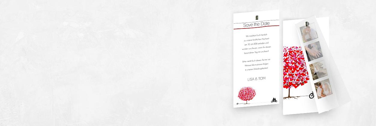 Dankeskarte.com Musterkarte für edle Hochzeitseinladung bestellen