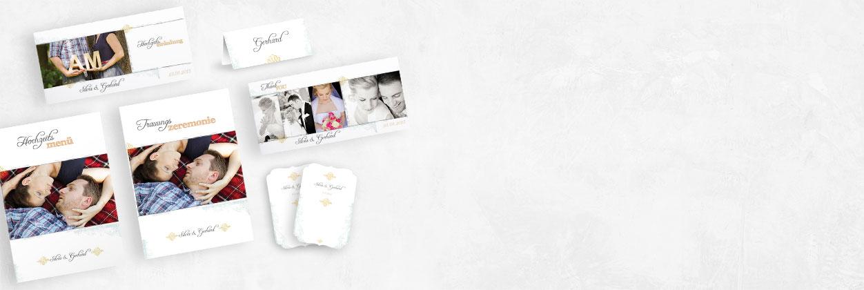 Einzigartige Designs für Hochzeitskarten