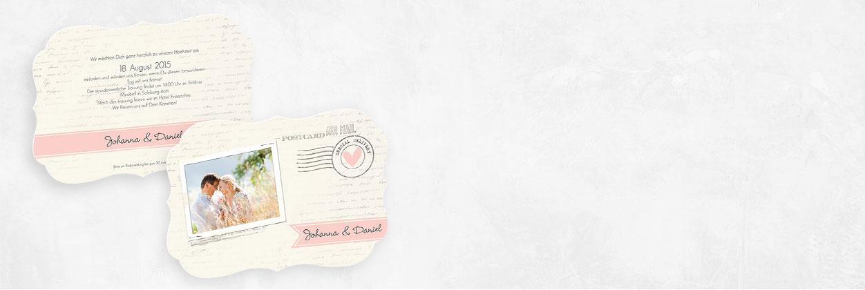 Einzigartige Designs für Hochzeitseinladungen