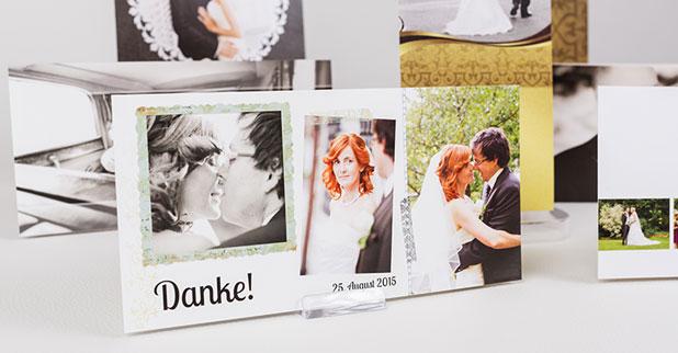 Wunderbare Danksagungskarten für die Hochzeit