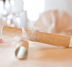 Wunderbare Menükarten für die Hochzeitstafel