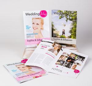 Edle Hochzeitszeitungen mit bis zu 28 Seiten