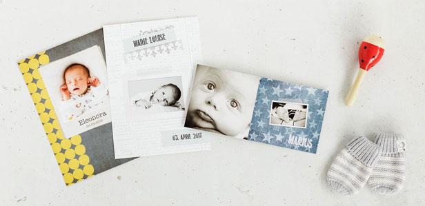 Geburtskarten im vintage Design, die Ihre Gäste zum Staunen bringen werden