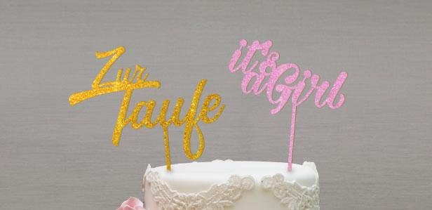 Cake Topper für die Babyparty, Taufe oder Babyshower