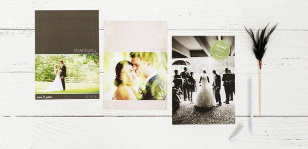 Exklusive Dankeskarten für Ihre Hochzeit