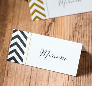 Traumhafte Tischkarten leiten Ihre Gäste