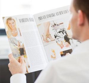 Unvergleichliche Hochzeitszeitungen im Magazin-Style professionell gestaltet