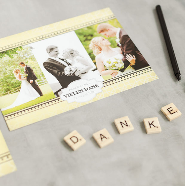 Karten Selbst Gestalten Und Online Drucken: Danksagungskarten Selbst Gestalten & Online Drucken Lassen