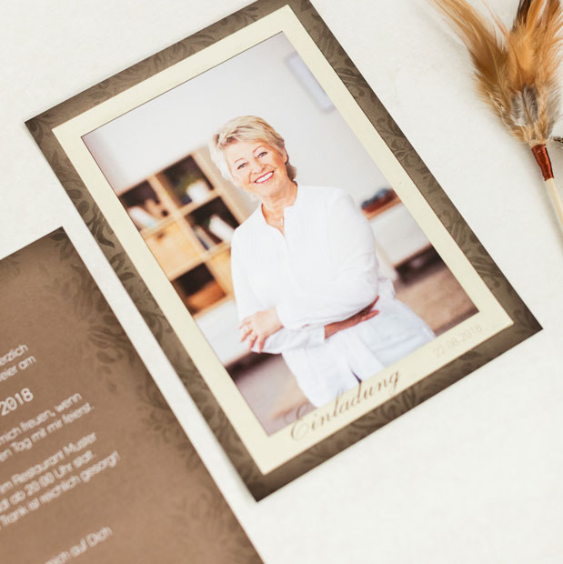 ▷ Einladungskarten zum 60 Geburtstag online gestalten & drucken