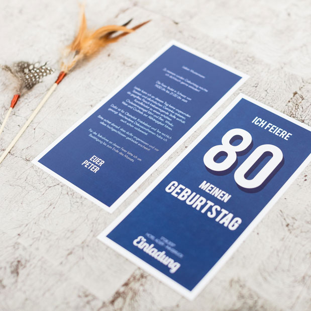 einladungskarten zum 80 geburtstag online gestalten drucken lassen. Black Bedroom Furniture Sets. Home Design Ideas