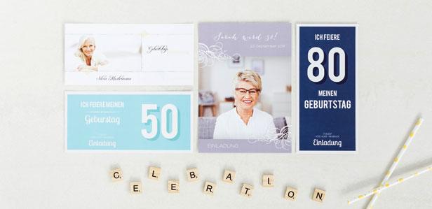 EINLADUNGEN ZUM 80. GEBURTSTAG FÜR MÄNNER