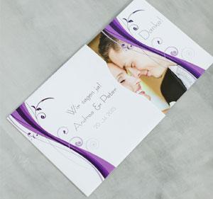 Individuell bedruckte Schuber und Hüllen für Ihre Hochzeitseinladung oder Dankeskarte