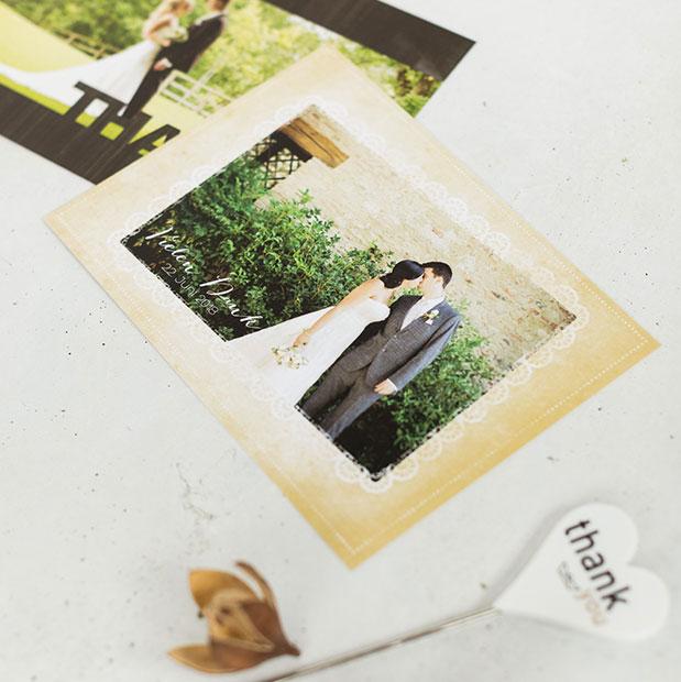 Unvergleichliche Dankeskarten im Vintage-Stil online gestalten und drucken lassen