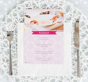 Menükarten für Ihre Hochzeitstafel