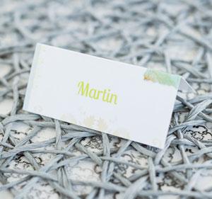 Tischkarten für Ihre Hochzeitstafel