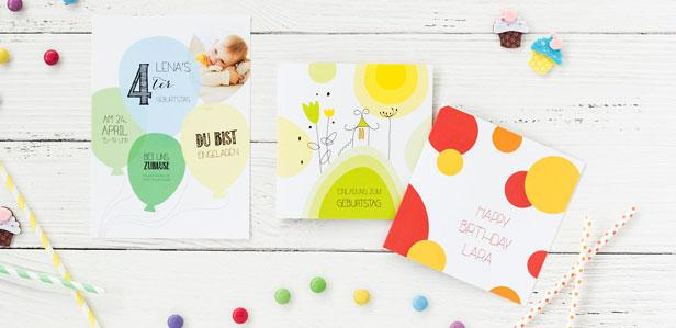 ▷ Einladungskarten für den Kindergeburtstag online gestalten