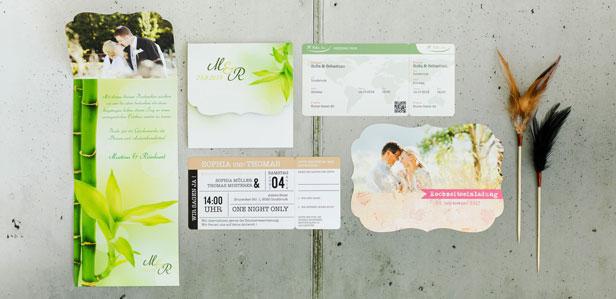 Exklusive Lasercut Karten Konturgeschnitten für Ihre Hochzeit