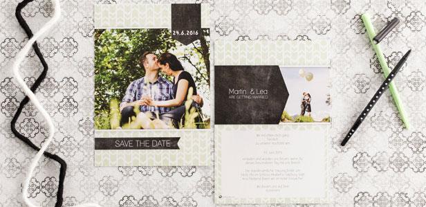 Exklusive Save-The-Date Karten die Ihre Gäste zum Staunen bringen werden