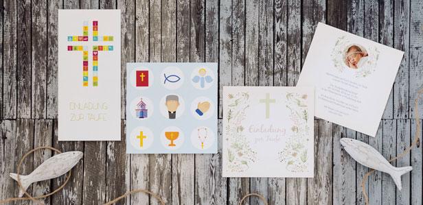 Exklusive Taufkarten für Ihren kleinen Schatz