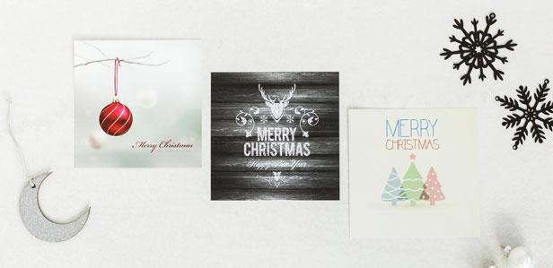 Einzigartige Weihnachtskarten online gestalten und drucken lassen