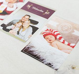 Weihnachtskarten für die Familie online gestalten und drucken lassen