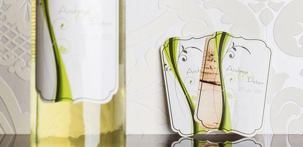 Exklusive Weinetiketten für Ihren Hochzeitswein, die Ihre Familie zum Staunen bringen werden