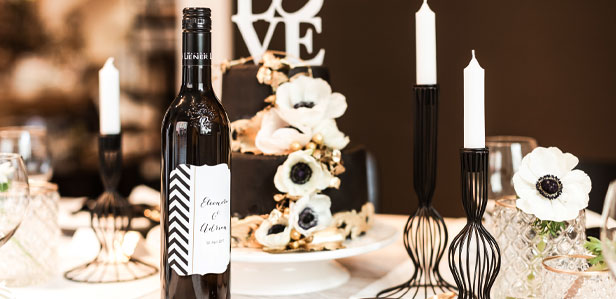 Edle Weinetiketten für Ihren Hochzeitswein