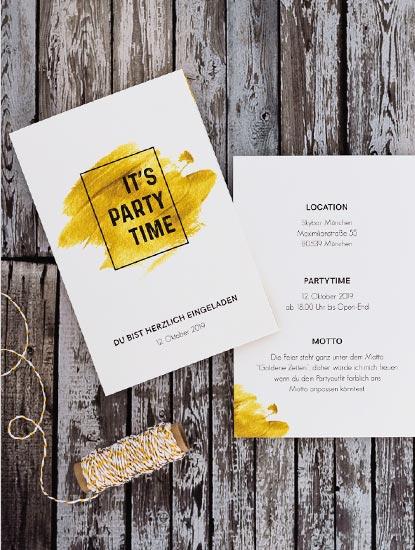 Partyeinladungen von Dankeskarte.com