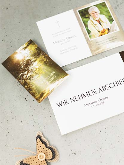 Trauerkarten von Dankeskarte.com