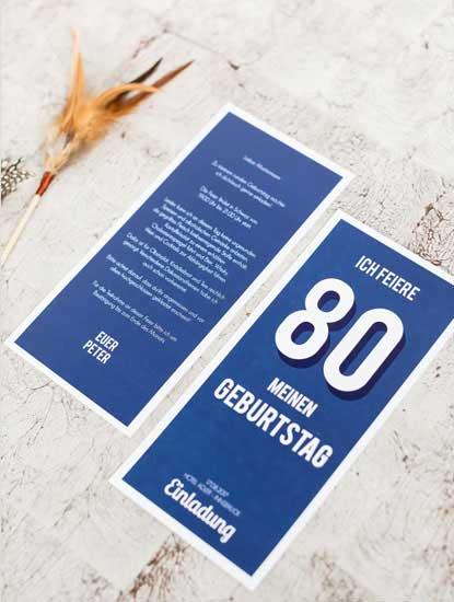 Geburtstagseinladungen zum 80. Geburtstag